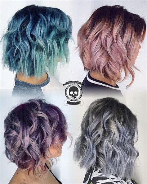 new dyed hairstyles metallic lobs what s you favorite flavor hairgod