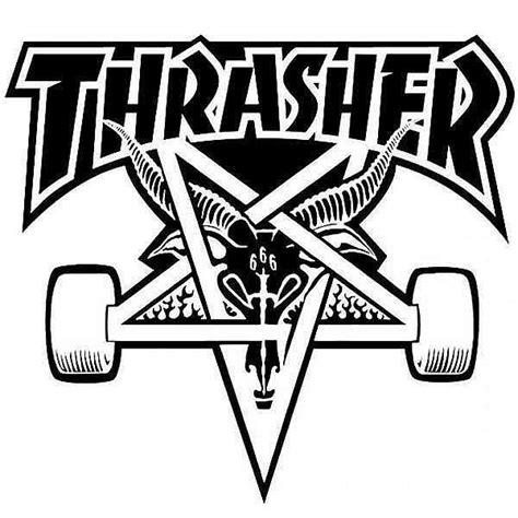 thrasher skate goat logo thrasher skate goat t shirt grey coat of arms brooklyn