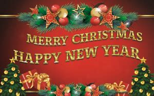 merry christmas happy  year vinyl banner holiday party decor outdoor sign ebay