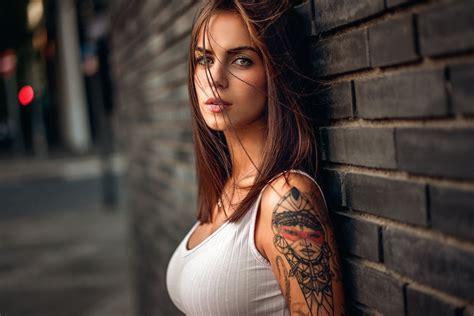 beautiful tattoo girl wallpaper beautiful girl full hd wallpaper and background image