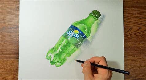 Drawing Sprites For speed drawing realistic a plastic bottle of sprite