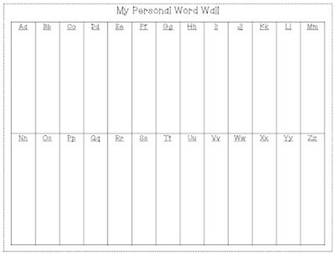 portable word wall template kindiekins july 2012