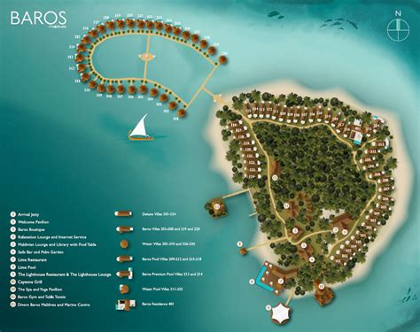 Contemporary Floor Plans by Baros Maldives Island Map Kuoni Travel