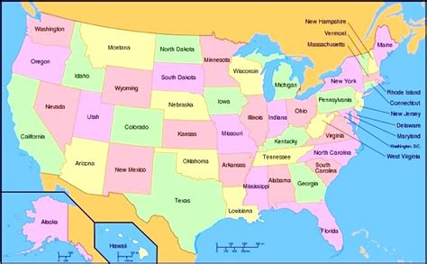 map of usa showing all states all 50 states map rtlbreakfastclub