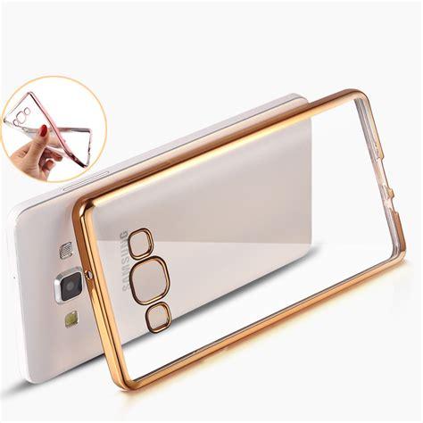 Luxo Xiaomi 3 capa dourada e fundo transparente samsung s7 e s7 edge the cases market