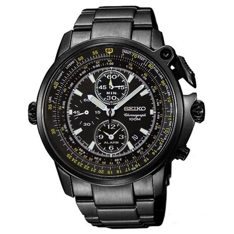 seiko pilots alarm chronograph mens buy seiko
