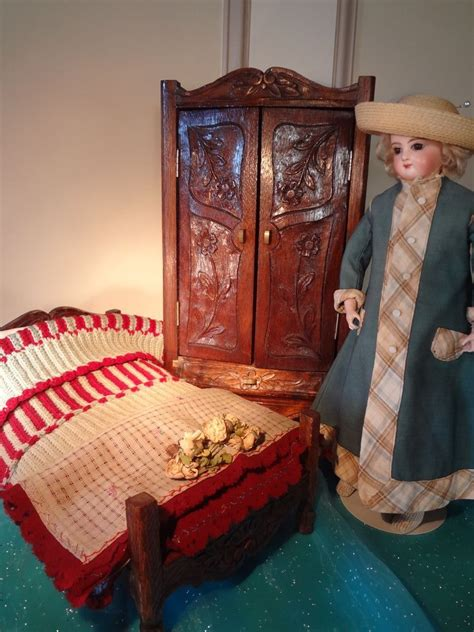 antique bed linens sale antique doll s armoire bed and linens from