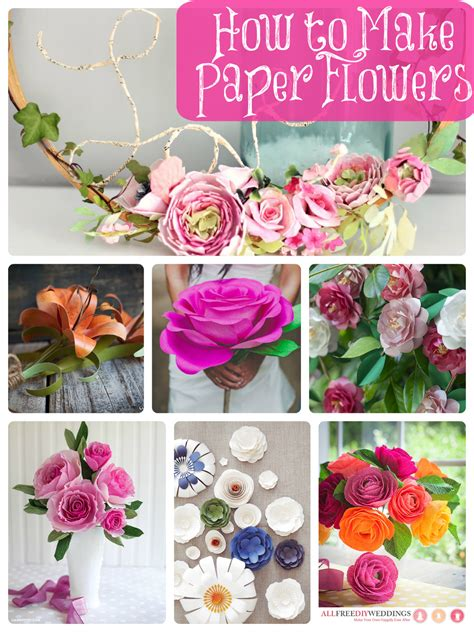 Wedding Paper Crafts - how to make paper flowers 40 diy wedding ideas