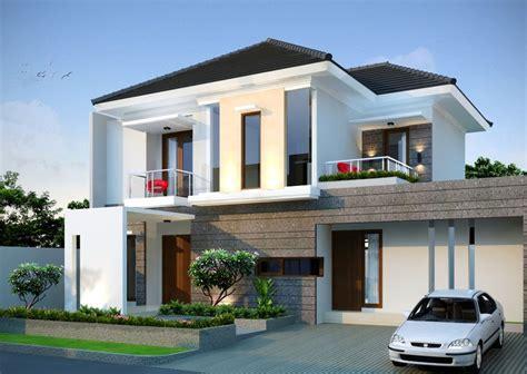 desain rumah mewah 2 lantai pada lahan lebar contoh rumah minimalis