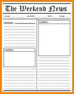 newspaper article template blank newspaper article template world of printable and