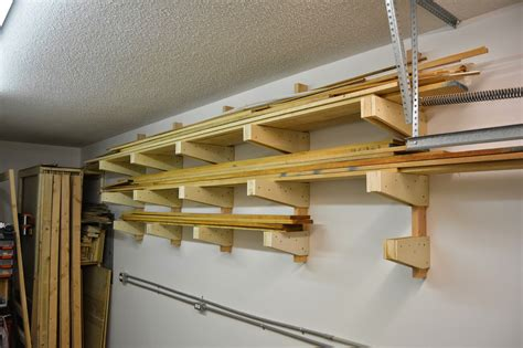 Rack It Lumber Racks by White Diy Wall Mounted Lumber Rack Featuring Bros Woodshop Diy Projects