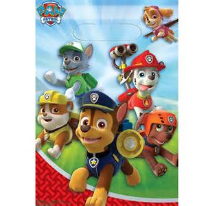 paw patrol treat bags party started