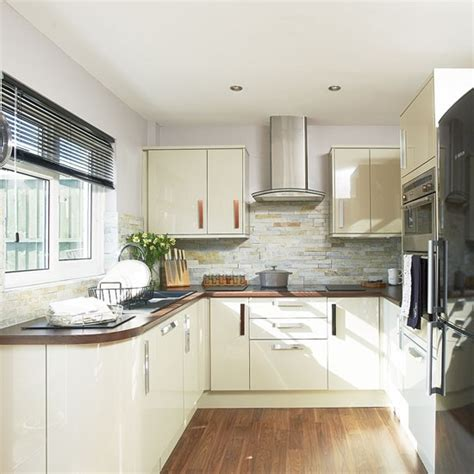 cream gloss kitchens ideas where and why laminate flooring can work for you cream