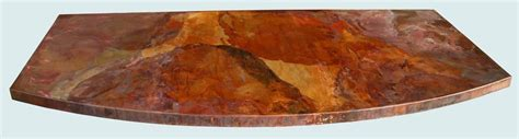 Copper Patina Quartz Countertop by Handmade Curved Copper Countertop With World Patina By