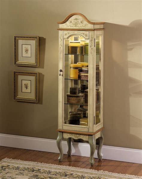 antique white curio cabinet powell garden antique white and curio cabinet