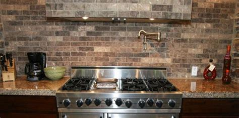 faux brick backsplash in kitchen faux brick tile backsplash in the kitchen tile