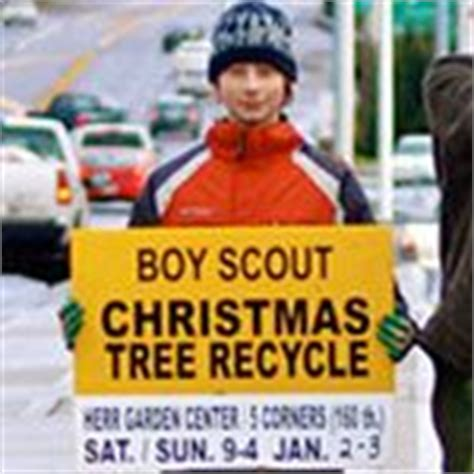 boy scouts tree recycling boy scout fundraiser on fundraising cub