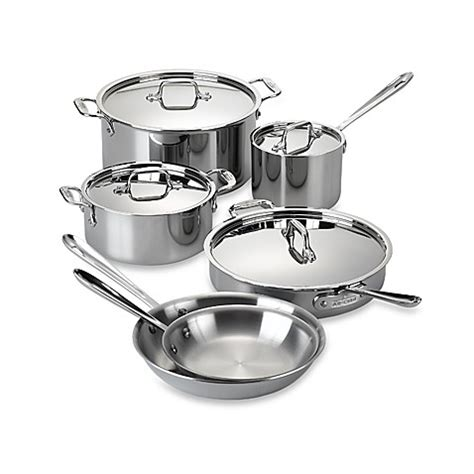 bed bath and beyond wok buy all clad stainless steel 10 piece cookware set from
