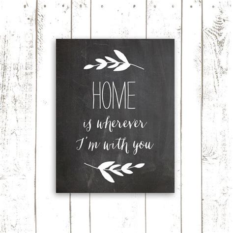 printable home quotes home quote printable chalkboard sign home is wherever i