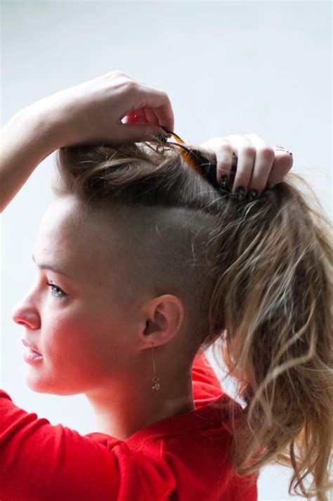 pony tail sides shaved real girl real beauty delaney wessel dishes on her dope