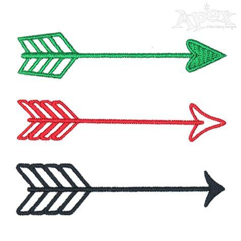 embroidery design arrow arrow embroidery design