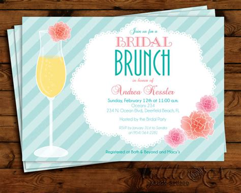 printable bridal shower brunch invitations floral mimosa bridal brunch invitation bridal shower