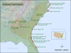 map of southeast coast united states southeast coast network parks