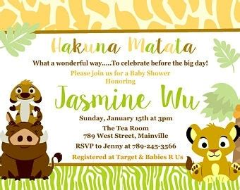 lion king baby shower invitations home sweet home