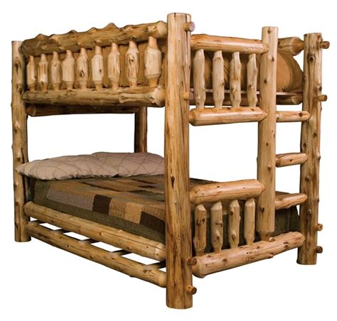 wood bunk beds wooden bunk beds what to choose log bunk bed adds the