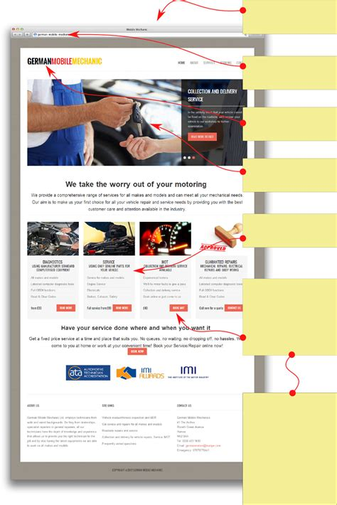 garage website mechanic garage website design with bookings mot