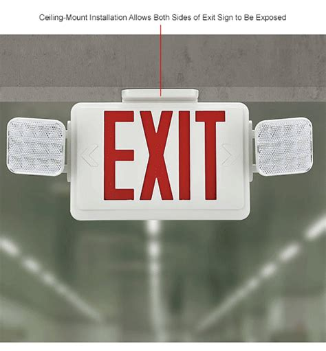 exit sign light box emergency lighting exit signs sign light combo units