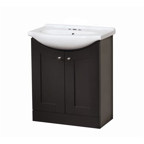 Bathroom Vanity With Sink Top Shop Style Selections Vanity Espresso Belly Sink Single Sink Bathroom Vanity With Vitreous