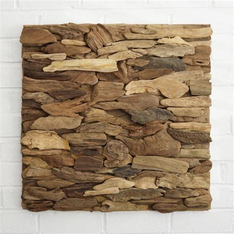 Sea Decorations For Home driftwood wall art panel horizontal pattern