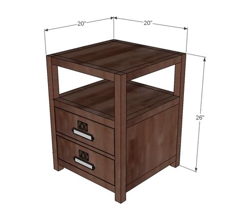 Nightstand Size by Wood Working Detail Diy Craft Table White