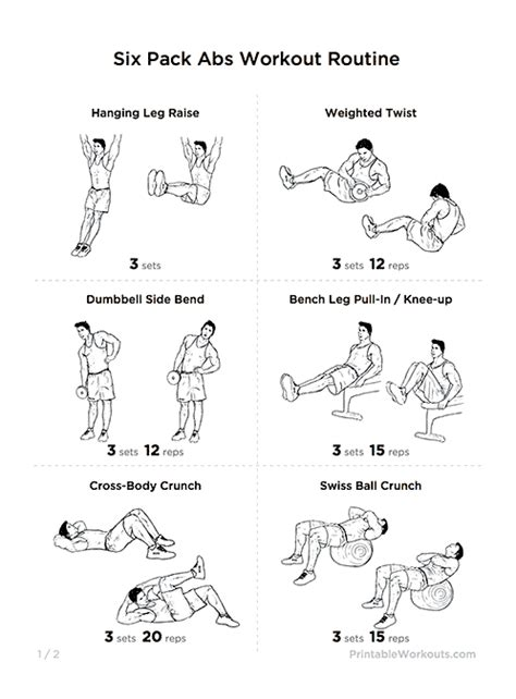 six pack workout routine at home with pictures eoua