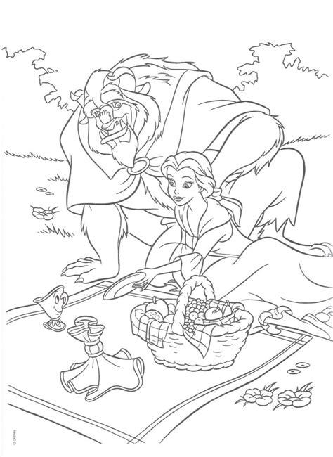 19 Dibujos de La Bella y la Bestia para colorear, pintar e