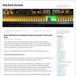 Ubuntu Help Desk dhcp bigwind pearltrees