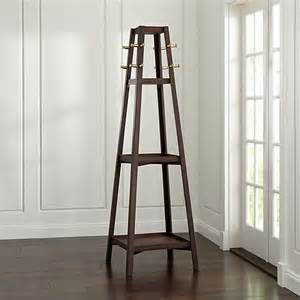 truro tabac wood standing coat rack in coat racks crate and barrel