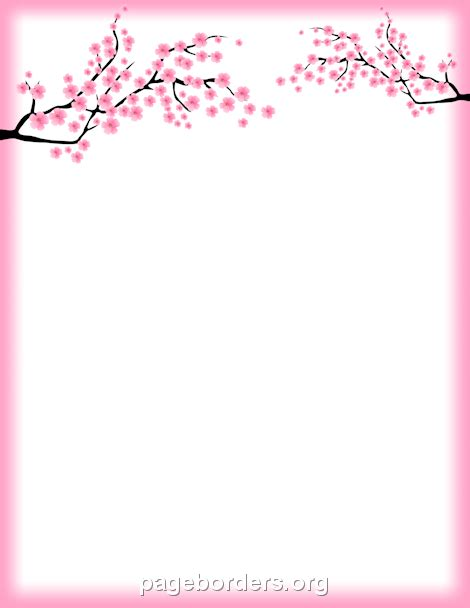 free printable japanese art printable cherry blossom border free gif jpg pdf and