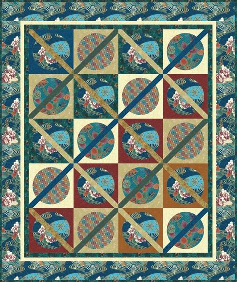 Pattern Colorway | free quilt pattern at hoffmanfabrics com sayomi oasis