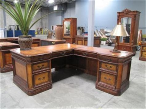 aspen home l shaped desk auctions executive office furniture and luxury