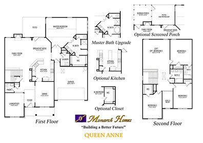 monarch homes floor plans queen anne monarch homes of north carolina