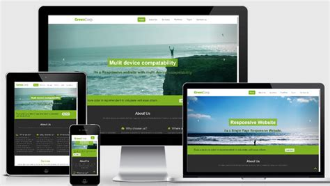Free Mobile Website Template Design With High Quality Webthemez Mobile Responsive Template