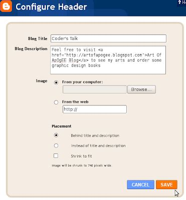 blogger description coder s talk how to create hyperlink on blogger header
