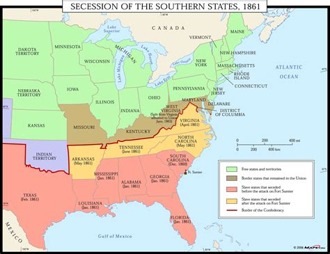 1861 map of united states secession of the southern states 1861 map maps