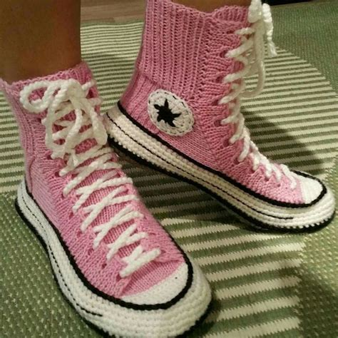 knitted converse slippers 17 best images about knit socks on free