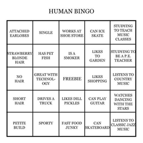 human bingo promoting diversity in the classroom