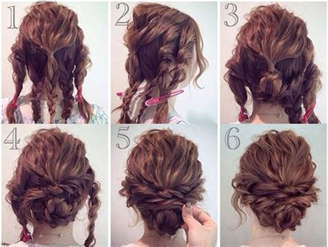 Homecoming Hairstyles For Medium Hair Tutorial by Prom Hairstyles Curly Hair Updos Hacks How To Pictures