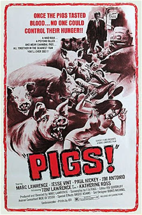 grindhouse poster template the horror digest pigs turns out is not about killer