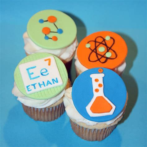 fondant cupcake toppers science themed by harrietshouseofcakes